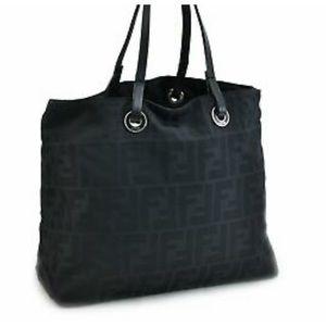 Authentic FENDI Black Zucca Nylon Bag